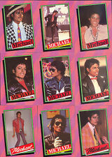 MICHAEL JACKSON 1 1984 TOPPS COMPLETE BASE CARD & STICKER SET OF 33 & 33 MUSIC