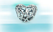 Authentic Pandora Sterling Silver bead charm MOTHERLY LOVE HEART MOM 791519