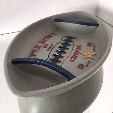 Chipie Super Bowl Plat Publicitaire Présentoir Ancien Vintage Rugby Plâtre