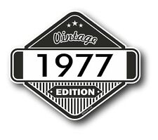 Vintage Edition 1977 Classic Retro Cafe Racer Style Vinyl Motorcycle car sticker