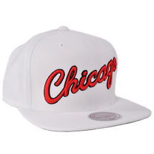 Chicago Bulls Snapback Hat Mitchell Ness Adjustable NBA Licensed Sport White Cap