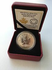 2014 Canada $5 Silver Maple Leaf Reverse Proof - World Money Fair Berlin Privy