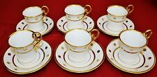 JEAN LUCE RARE FRENCH ART DECO DEMI TASSE CUPS & SAUCERS - SET of 6