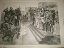 Emperor Wilhelm II of Germany fire brigade review Crystal Palace 1891 print R AZ