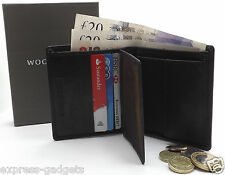 BRAND NEW MEN'S HIGH QUALITY BLACK LEATHER WALLET, PURSE,GOOD FATHERS DAYS GIFT!