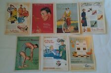 7 Vintage Postcards Advertising Poster New Old Post Cards Texaco life stride etc