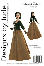 Outlander Scottish Claire Dress Doll Clothes Sewing Pattern for Tyler Tonner