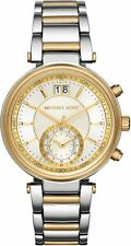 Michael Kors Women's Sawyer Chronograph Two Tone Stainless Steel Watch MK6225