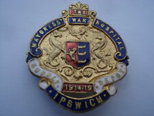1914-1919 THE MAYORESS' WAR HOSPITAL SUPPLY DEPOT IPSWICH ENAMEL PIN BADGE