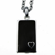 Dog Tag Memorial Cremation Jewelry Urn Necklace for Ash Stainless Steel 24 inch