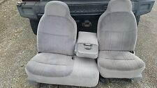 F150 FRONT 60/40 SPLIT BENCH WITH FLIP DOWN CENTER CONSOLE GRAY NICE