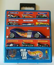 Hot Wheels Molded 100 Car Case Carrying Storage Holder Traveler Tote Organizer