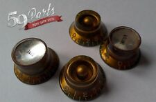 SET OF 4 AGED RELIC GIBSON MISMATCHED KNOBS VINTAGE LES PAUL GOLD US SIZE