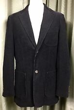 Boden Black Corduroy Jacket Blazer Machine Washable Elbow Patches 42R