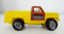 Vintage  TONKA Mini Pick Up Toy Truck - Made in USA 1978, Yellow & Red