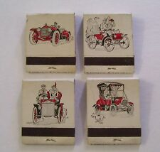 VINTAGE LOT OF 4 VINTAGE CARS MATCHBOOK WITH MATCHES