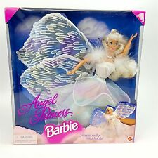 Angel Magical Princess Barbie Doll 1996 Mattel Blonde Glitter Wings Make Her Fly