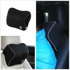 Ergonomic Headrest Black Memory Foam Thicken Auto Car Neck Rest Cushion Pillows