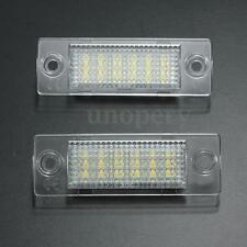 2x LED License Number Plate Light For VW Caddy Golf Passat Jetta Skoda No Error