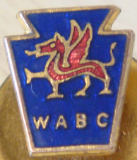 WALES Vintage WABC badge Maker H.W MILLER B'ham Button hole fitting 12mm x 14mm