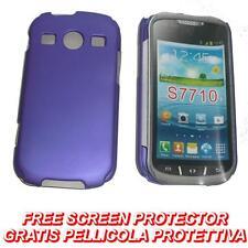Pellicola+custodia BACK COVER RIGIDA VIOLA per Samsung S7710 Galaxy Xcover 2