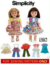 SEWING PATTERN! MAKE DOLL CLOTHES! FITS AMERICAN GIRL MOLLY~KIT~JULIE~MCKENNA!