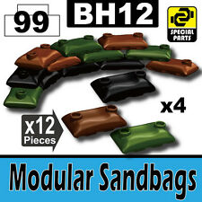 BH12-5 (W233) Modular Sandbags compatible with toy brick minifigures Army Camo