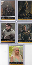 Games of Thrones P1,P2,P3,P4 and P5 Promo cards