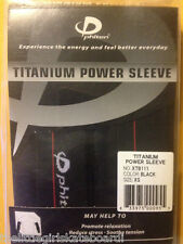 NEW PHITEN TITANIUM POWER SLEEVE PROMOTE RELAXATION,REDUCE STRESS. BLACK X-SMALL