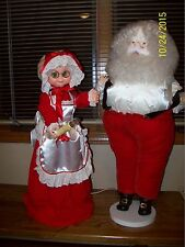 Mr.& Mrs. Santa Claus, electrical movement of arms and body $10.00 off now