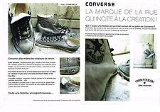 COUPURE DE PRESSE CLIPPING 035 2010 CONVERSE ALL STAR  baskets l'histoire ( 2p)