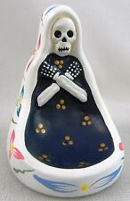 DAY OF THE DEAD INCENSE HOLDER burner - Our Lady Virgin Guadalupe Skeleton white
