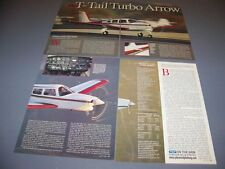 VINTAGE..1982 PIPER T-TAIL TURBO ARROW..HISTORY/DETAILS/SPECS..RARE! (212H)