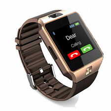 Gold Bluetooth Wireless Smart Watch DZ09 CGSM SIM for iPhone Samsung Android