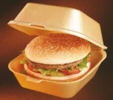 50 x POLYSTYRENE FOAM BURGER POTATO CHIP BOX BBQ PARTY - (N6)