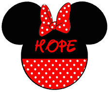 DISNEY FAMILY VACATION MINNIE MOUSE PERSONALIZED FABRIC/T-SHIRT IRON ON TRANSFER