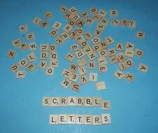 500 Wood Scrabble Letters for Arts & Craft or Spare Game Pieces