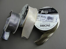 Offray Metallic Wired Ribbon 3 spools