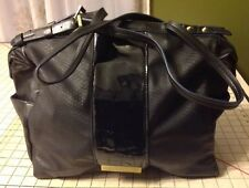RACHEL Rachel Roy Black Gold tone Spike Purse Handbag Shoulder Bag Tote Satchel