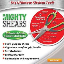 Stainless Steel Multi Purpose General Kitchen Scissors Meat Herb Shears 10 in 1