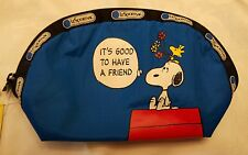 LeSportsac Medium Dome Zip Cosmetic Case Peanuts Snoopy Heart Hugs NWT #8170