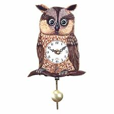 Alexander Taron 204QP Owl Moves Eyes Quartz Wall Clock