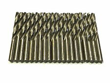 "19/64"" USA TWIST DRILL BITS HIGH SPEED STEEL 118 DEGREE SPLIT POINT 20 PACK"