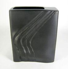 Rosenthal porcelaine vase Martin Freyer desiogn porcelaine noire op art 17cm