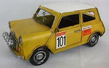 Di latta modello di un giallo e bianco racing mini NO:101 / Ornamento / REGALO