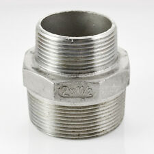 Male x Male Hex Nipple Threaded Reducer Pipe Fitting Stainless Steel 304 NPT