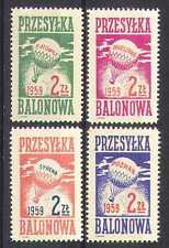 Poland 1959 BALLOON POST/Air Mail/Flight 4v set n26281