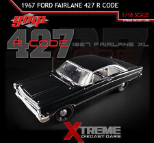 GMP 18803 1:18 1967 FORD FAIRLANE 427 R CODE BLACK DIECAST MODEL CAR