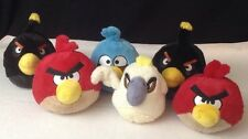 Lot of 6 Angry Birds Deluxe Plush w/ Sound Blue Jay Red White Rio & Bomb EUC