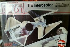 STAR Wars TIE Interceptor FIGHTER VINTAGE AIRFIX KIT ROTJ 1983! auspicabile & RARE